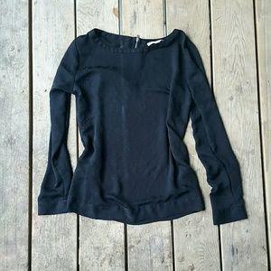 Black Floral Loft blouse